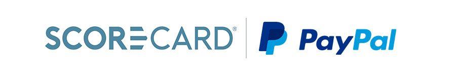 Logos for scorecard reward and paypal